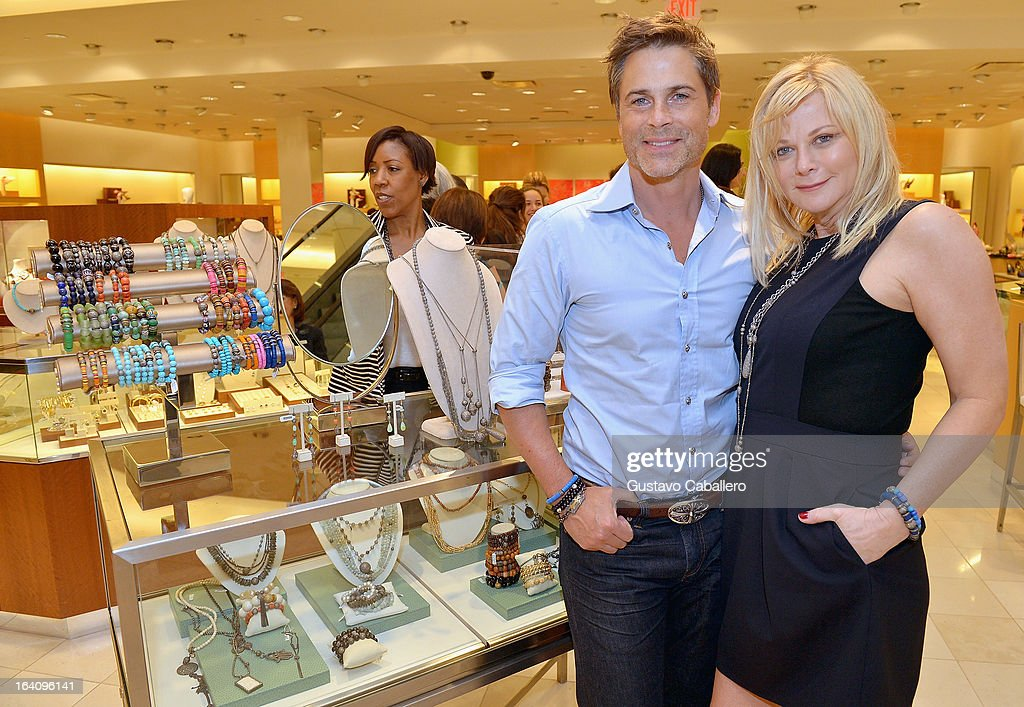 <a gi-track='captionPersonalityLinkClicked' href=/galleries/search?phrase=Rob+Lowe&family=editorial&specificpeople=211607 ng-click='$event.stopPropagation()'>Rob Lowe</a> and Sheryl Lowe attends the Sheryl Lowe Jewelry Design event at Neiman Marcus on March 19, 2013 in Coral Gables, Florida.