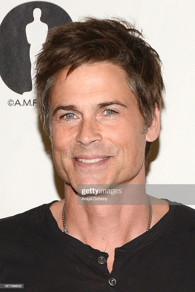 <a gi-track='captionPersonalityLinkClicked' href=/galleries/search?phrase=Rob+Lowe&family=editorial&specificpeople=211607 ng-click='$event.stopPropagation()'>Rob Lowe</a> attends the Academy of Motion Picture Arts and Sciences hosts a 'Wayne's World' reunion at AMPAS Samuel Goldwyn Theater on April 23, 2013 in Beverly Hills, California.