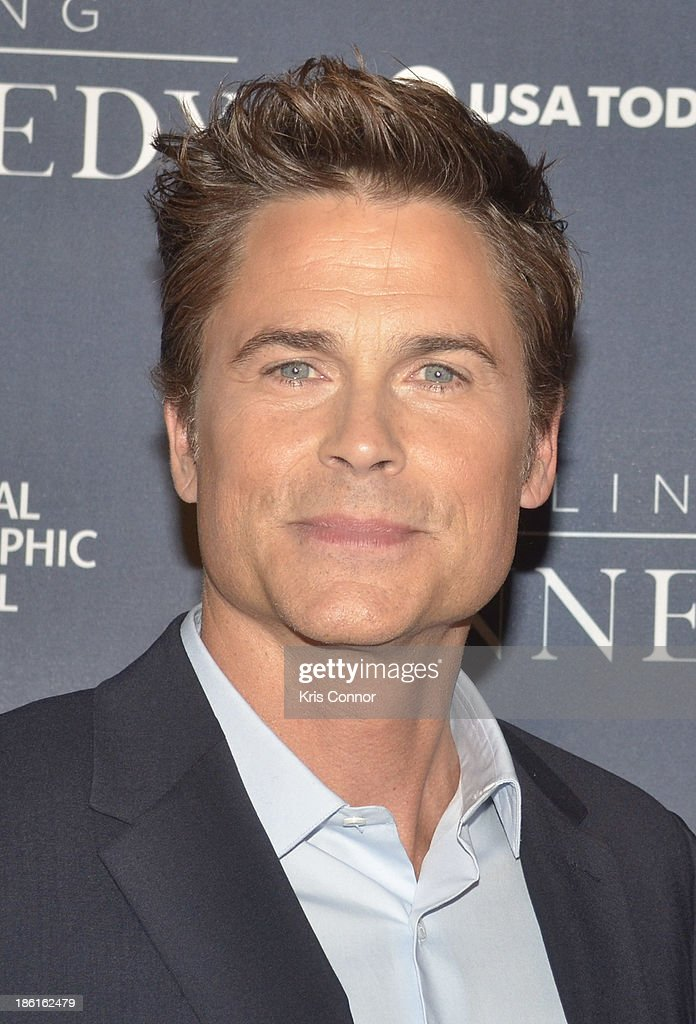 <a gi-track='captionPersonalityLinkClicked' href=/galleries/search?phrase=Rob+Lowe&family=editorial&specificpeople=211607 ng-click='$event.stopPropagation()'>Rob Lowe</a> attends the National Geographic Channel's 'Killing Kennedy' World Premiere at The Newseum on October 28, 2013 in Washington, DC.