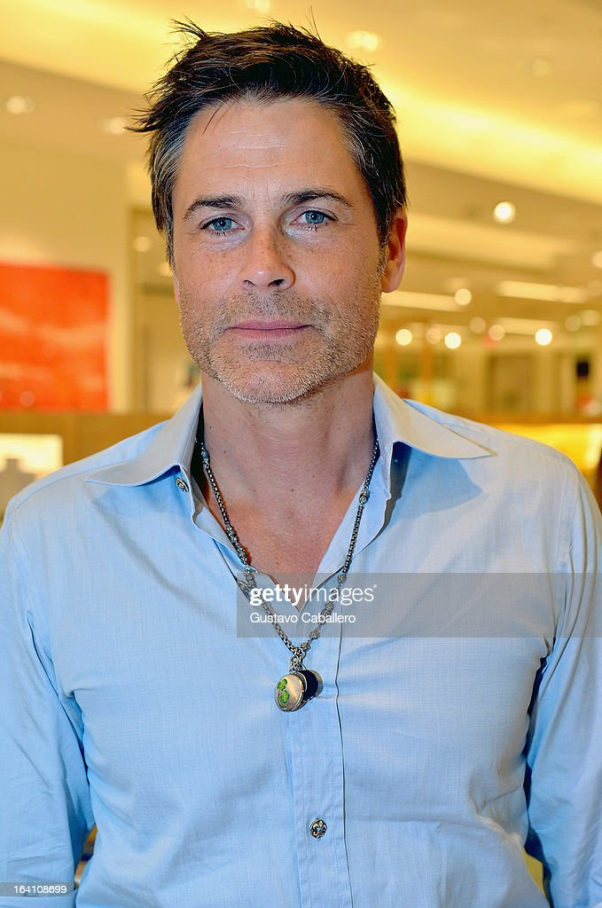 <a gi-track='captionPersonalityLinkClicked' href=/galleries/search?phrase=Rob+Lowe&family=editorial&specificpeople=211607 ng-click='$event.stopPropagation()'>Rob Lowe</a> attends the Sheryl Lowe Jewelry Design event at Neiman Marcus on March 19, 2013 in Coral Gables, Florida.