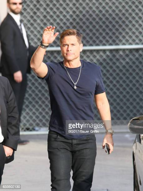 Rob Lowe is seen at 'Jimmy Kimmel Live' on February 01 2017 in Los Angeles California