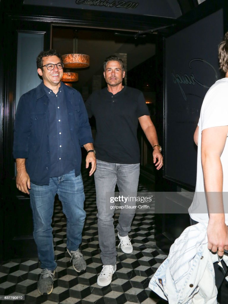 Rob Lowe is seen on August 22, 2017 in Los Angeles, California.