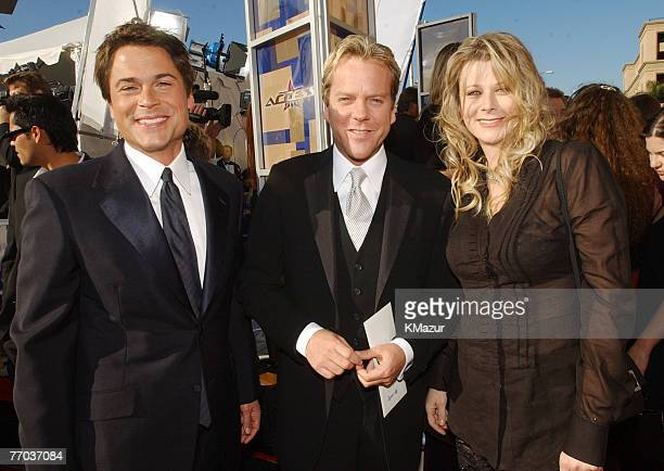 Rob Lowe Kiefer Sutherland and Lowe's wife Sheryl Berkoff