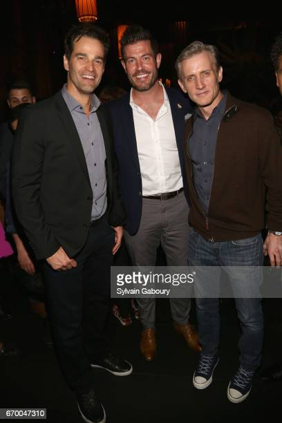 Rob Marciano Jesse Palmer and Dan Abrams attend 'The Immortal Life Of Henrietta Lacks' New York Premiere After Party at TAO Downtown on April 18 2017...