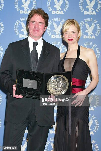 Rob Marshall and Renee Zellweger during 55th Annual Directors Guild Of America Awards at Century Plaza Hotel in Century City California United States