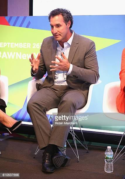 Rob Master speaks onstage during the Gender Disparity A Data Driven Remedy panel atThomson Reuters during 2016 Advertising Week New York on September...