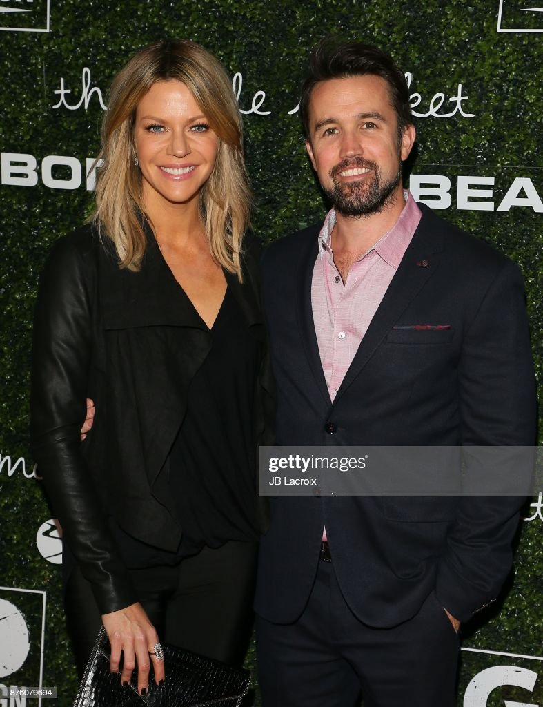 Rob McElhenney and Kaitlin Olson attend the 2017 GO Campaign Gala on November 18, 2017 in Los Angeles, California.