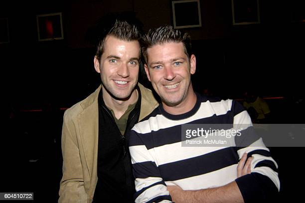 Rob McGarry and Eddie Roche attend MONDAY'S HARD Party for John Bonavia at The PLUMM on November 27 2006 in New York City