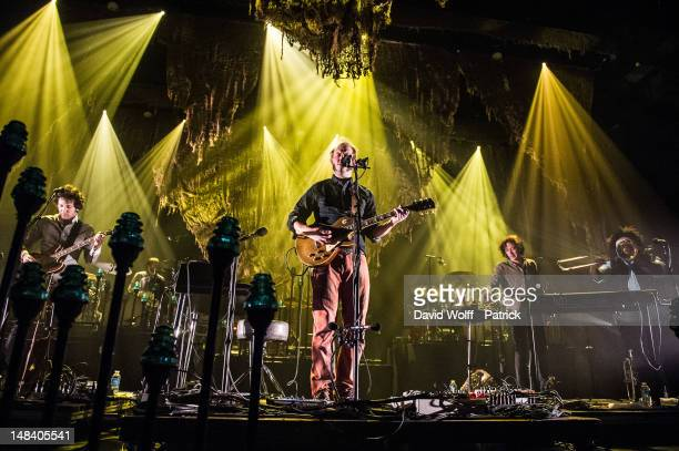 Rob Moose and Justin Vernon from Bon Iver perform at L'Olympia on July 15 2012 in Paris France