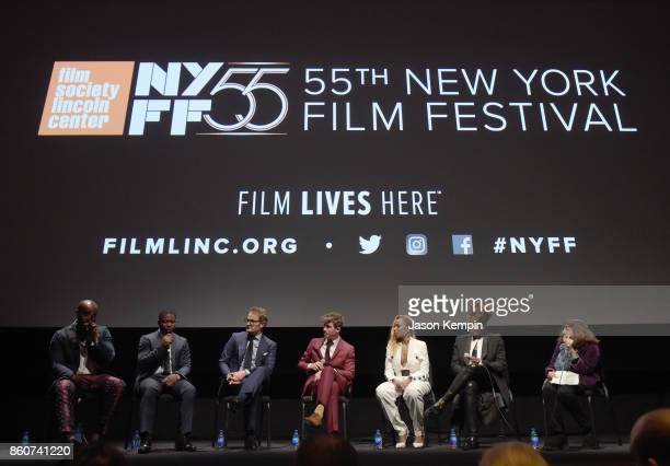 Rob Morgan Jason Mitchell Jason Clarke Garrett Hedlund Mary J Blige and Director Dee Rees speak onstage at the Q A following the screening of...