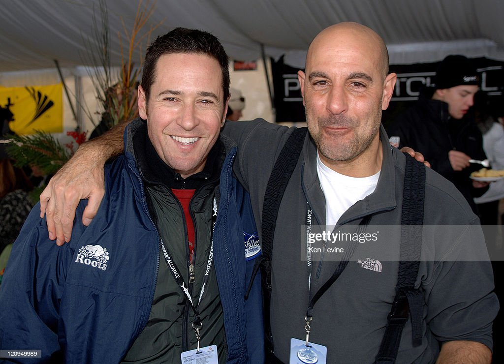 Rob Morrow left and Stanley Tucci rightat the Deer Valley Celebrity Skifest at Deer Valley resort Utah Dec 2 2006