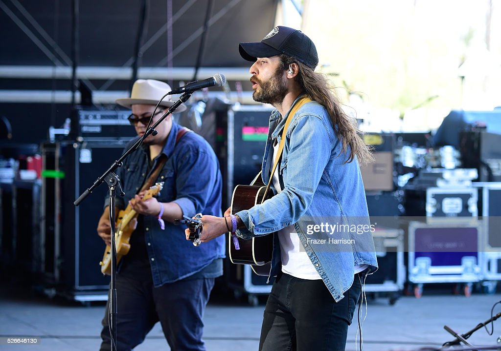 Rob Motes (L) and Ben Voskeritchian of the band These Wild Plains perform onstage during 2016 Stagecoach California's Country Music Festival at Empire Polo Club on April 30, 2016 in Indio, California.