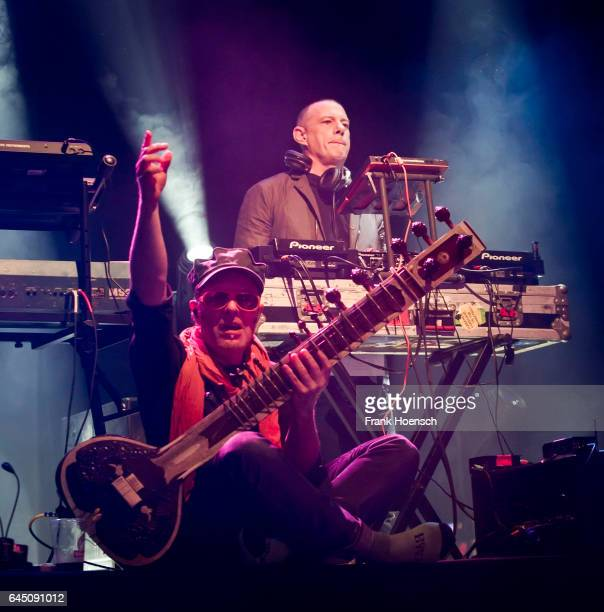 Rob Myers and Eric Hilton of the American band Thievery Corporation perform live during a concert at the Astra on February 24 2017 in Berlin Germany