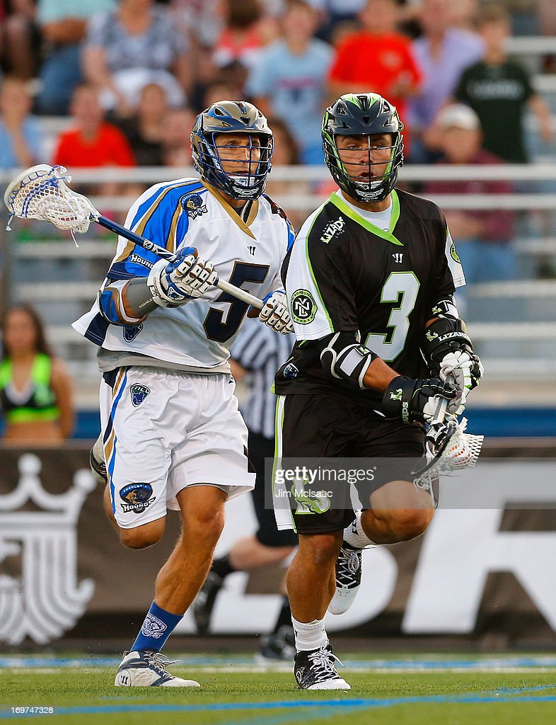 Rob Pannell #3 of the New York Lizards in action against <a gi-track='captionPersonalityLinkClicked' href=/galleries/search?phrase=Casey+Cittadino&family=editorial&specificpeople=5891294 ng-click='$event.stopPropagation()'>Casey Cittadino</a> #5 of the Charlotte Hounds during their Major League Lacrosse game at Shuart Stadium on May 31, 2013 in Uniondale, New York. The Hounds defeated the Lizards 14-12.