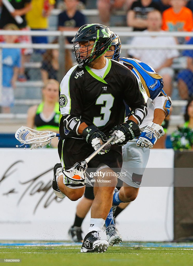 Rob Pannell #3 of the New York Lizards in action against the Charlotte Hounds during their Major League Lacrosse game at Shuart Stadium on May 31, 2013 in Uniondale, New York. The Hounds defeated the Lizards 14-12.