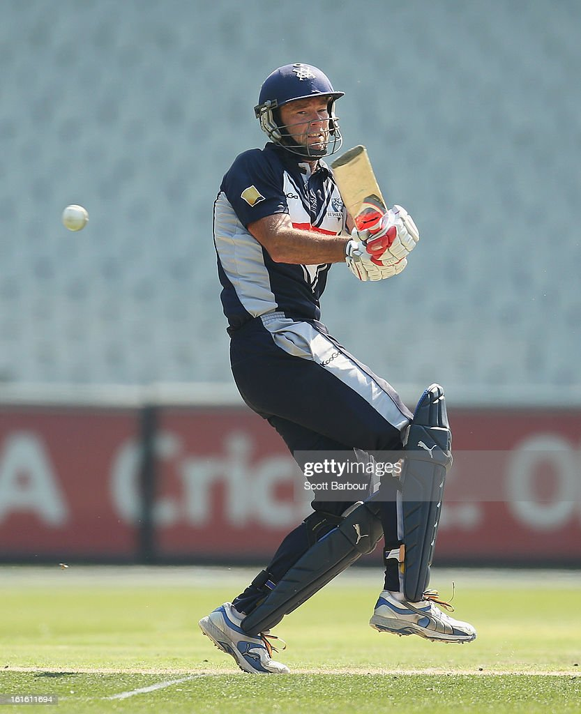 Rob Quiney of Victoria bats during the international tour match between Victoria and the England Lions at the Melbourne Cricket Ground on February 13, 2013 in Melbourne, Australia.