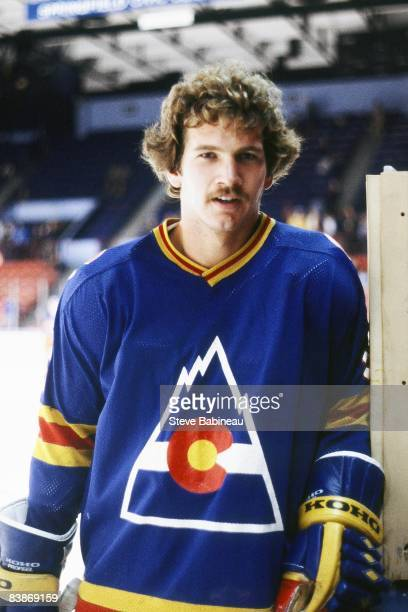 Rob Ramage of the Colorado Rockies poses for camera before game against the Boston Bruins at Boston Garden