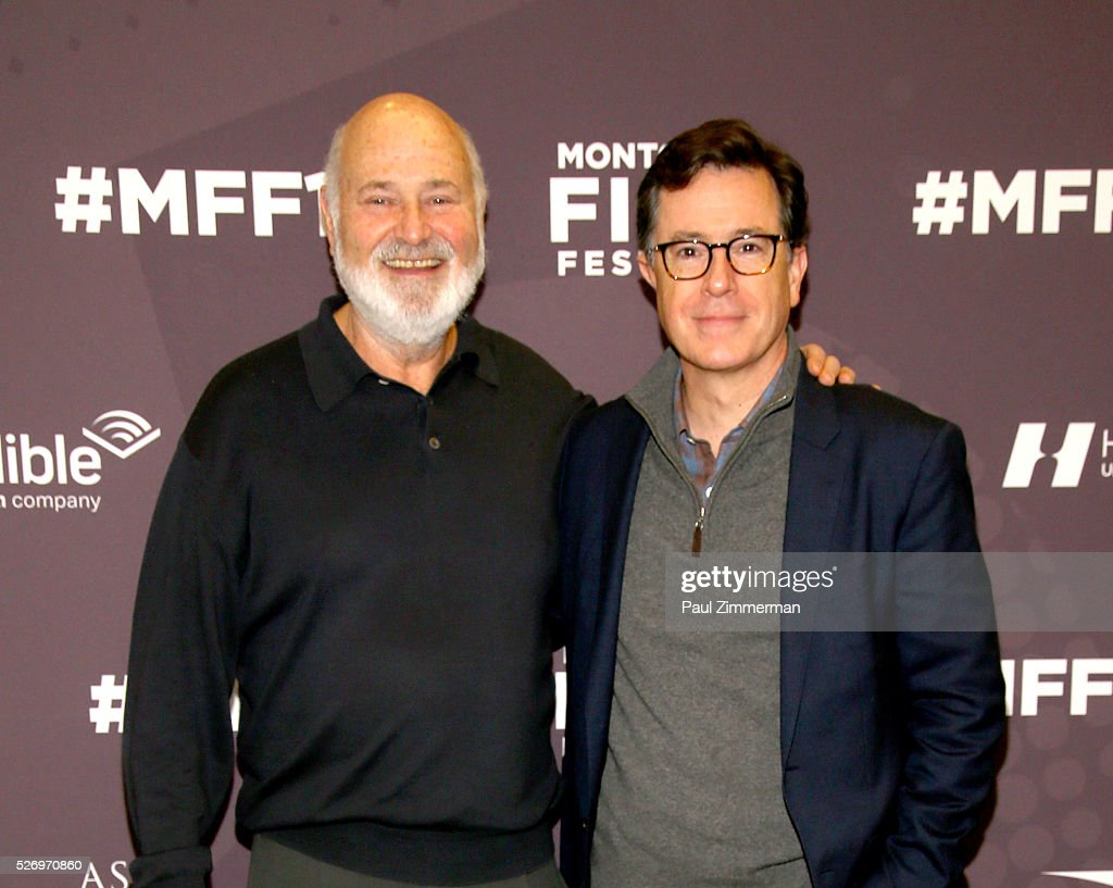 Rob Reiner (L) and Stephen Colbert attend the Montclair Film Festival 2016 - Day 3 Conversations at Montclair Kimberly Academy on May 1, 2016 in Montclair, New Jersey.