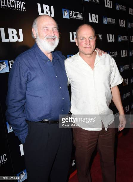 Rob Reiner and Woody Harrelson attend the Los Angeles Premiere of LBJ at ArcLight Hollywood on October 24 2017 in Hollywood California