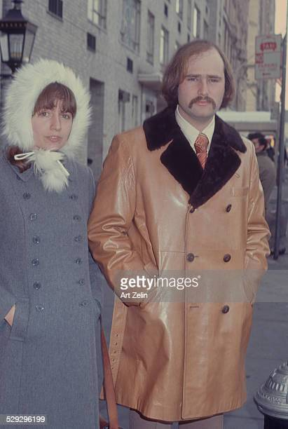 Rob Reiner with Penny Marshall on the street in NYC circa 1970 New York