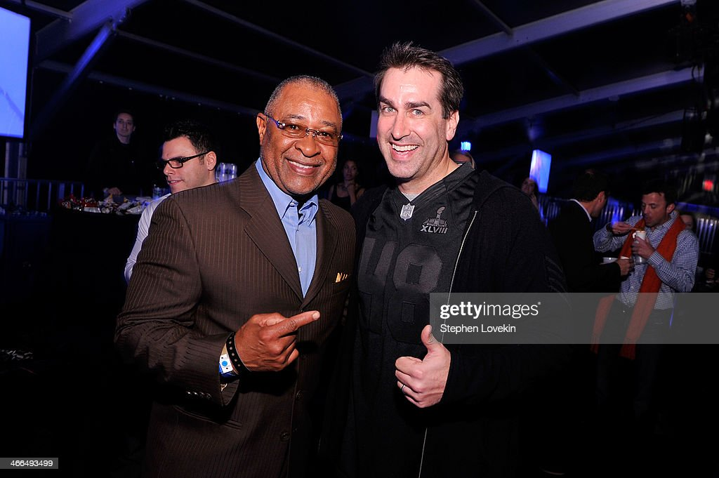 <a gi-track='captionPersonalityLinkClicked' href=/galleries/search?phrase=Rob+Riggle&family=editorial&specificpeople=2789494 ng-click='$event.stopPropagation()'>Rob Riggle</a> (R) attends the Bud Light Hotel on February 1, 2014 in New York City.