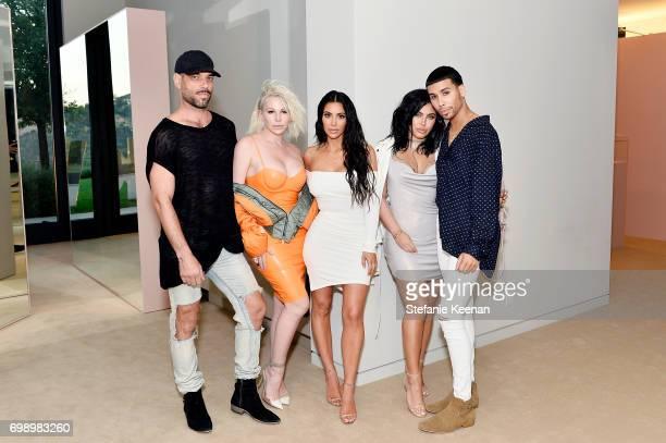 Rob Scheppy Joyce Bonelli Kim Kardashian West Hrush Achemyan and Ariel Tejada celebrate The Launch Of KKW Beauty on June 20 2017 in Los Angeles...