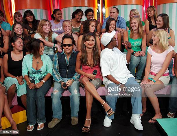 Rob Schneider MTV VJ Vanessa Minnillo and Eddie Griffin