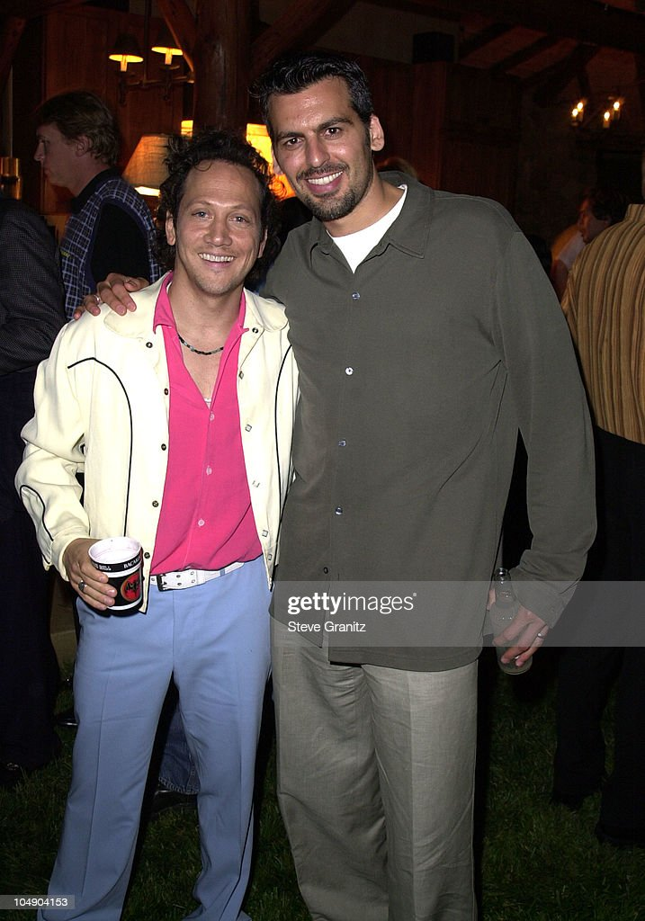 Rob Schneider & Oded Fehr during The Animal Party For The Rob Schneider Music Foundation at Private House in Beverly Hills, California, United States.