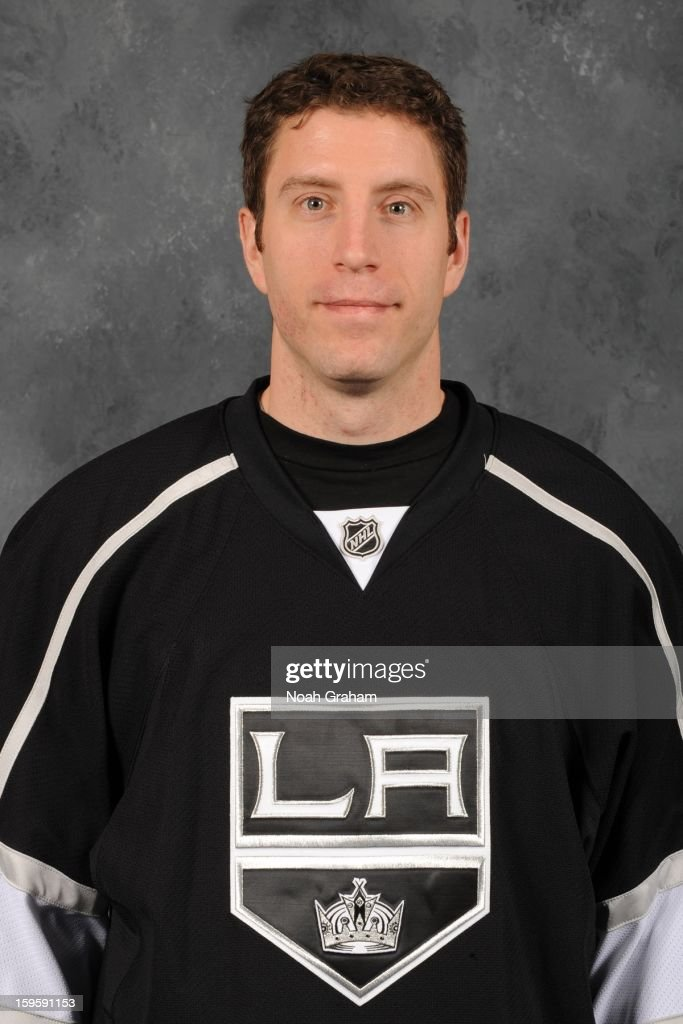 Rob Scuderi #7 of the Los Angeles Kings poses for his official headshot for the 2012-2013 season on January 12, 2013 at Staples Center in Los Angeles, California.