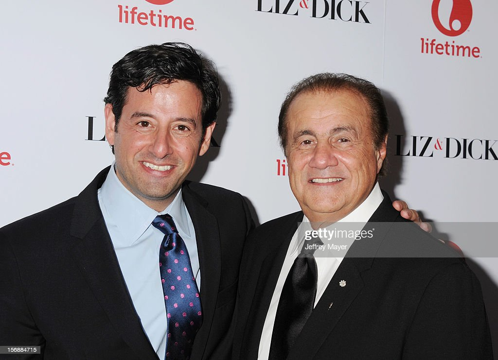 Rob Sharenow and Larry Thompson arrive at the 'Liz & Dick' - Los Angeles Premiere at the Beverly Hills Hotel on November 20, 2012 in Beverly Hills, California.