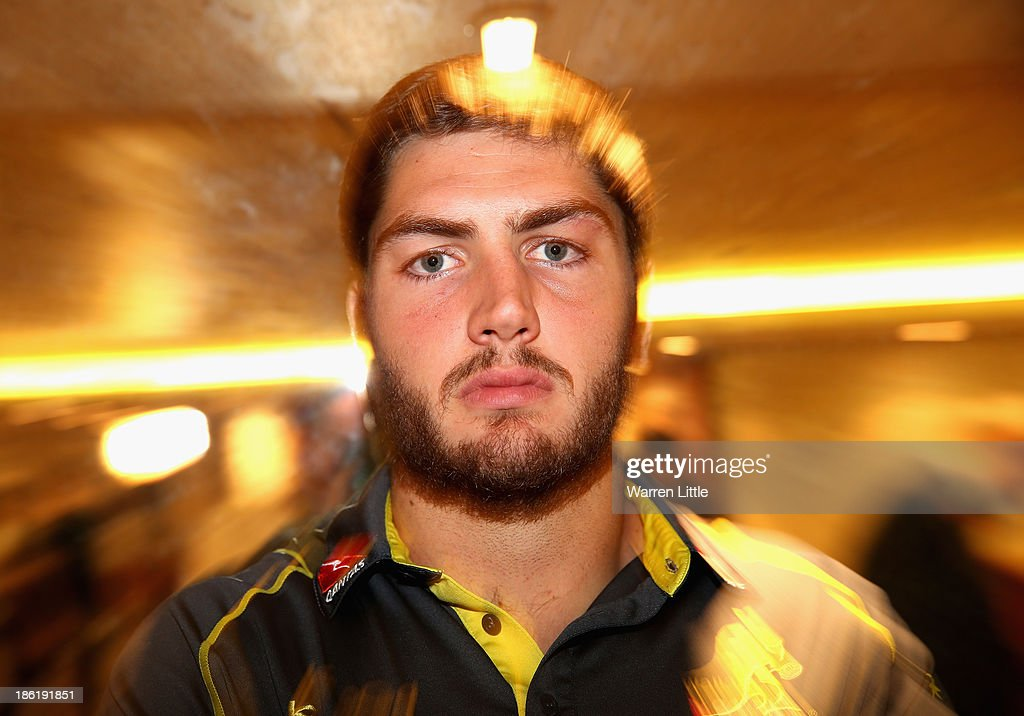 Rob Simmons of Australia poses for a portrait after addressing the media at the Royal Garden Hotel on October 29, 2013 in London, England.