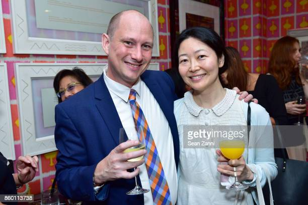 Rob Stearns and Ava Kim attend the launch of The Collector Geneva's Sophie Bonvin Code Collection in Collaboration with artist Bill Claps at Crosby...