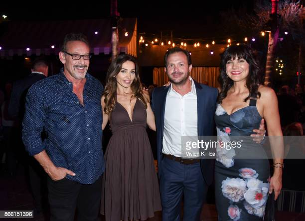 Rob Steinberg Carlotta Montanari Judd Lormand and Moniqua Plante attend the Los Angeles Premiere of LBJ at ArcLight Hollywood on October 24 2017 in...