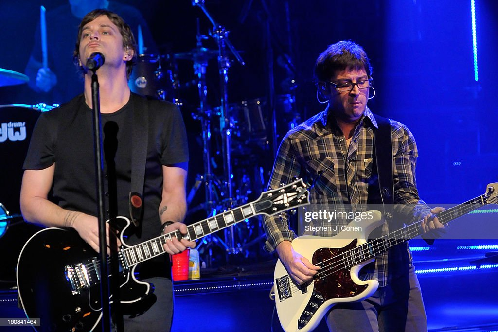 Rob Thomas and Brian Yale of Matchbox Twenty performs at the Louisville Palace on February 5, 2013 in Louisville, Kentucky.