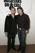 Rob Thomas and Gavin DeGraw during Rob Thomas and Gavin Degraw at the 2nd Annual 'Musicians on Call' Benefit at Sotheby's April 11 2006 at Sotheby's...