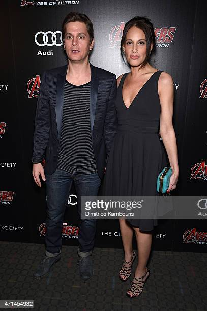 Rob Thomas and Marisol Maldonado attend The Cinema Society Audi screening of Marvel's 'Avengers Age of Ultron' on April 28 2015 in New York City