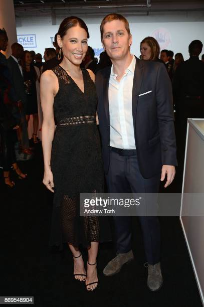 Rob Thomas and Marisol Thomas attend the Samsung annual charity gala 2017 at Skylight Clarkson Sq on November 2 2017 in New York City