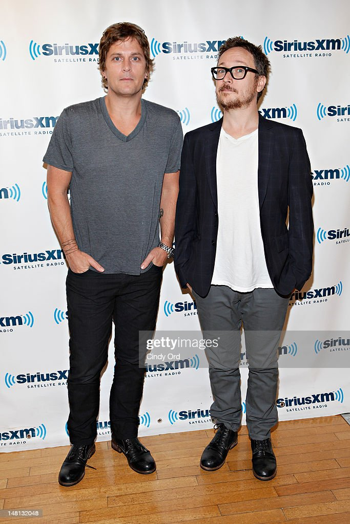 Rob Thomas and Paul Doucette of Matchbox 20 visit the SiriusXM Studio on July 10, 2012 in New York City.