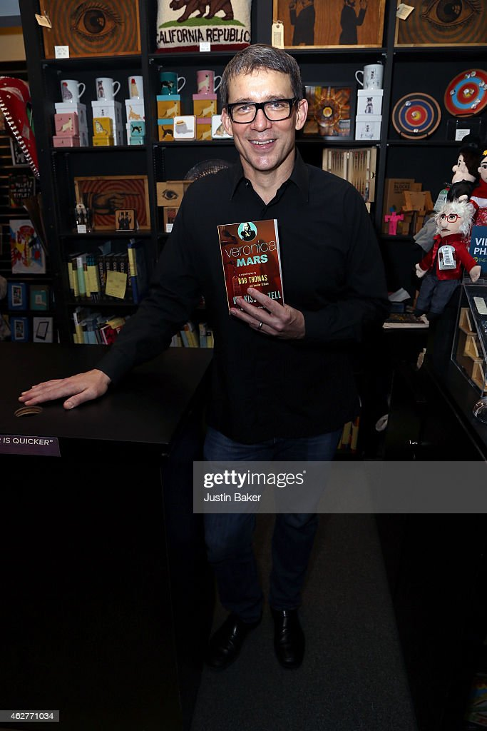 Rob Thomas discusses and signs 'Veronica Mars 2 Mr Kiss Tell' at Book Soup on February 4 2015 in West Hollywood California