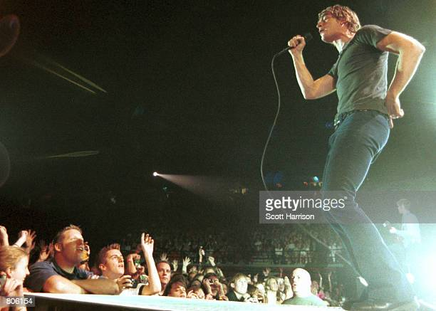 Rob Thomas from Matchbox Twenty performs in concert October 21 2000 in Las Vegas Nevada