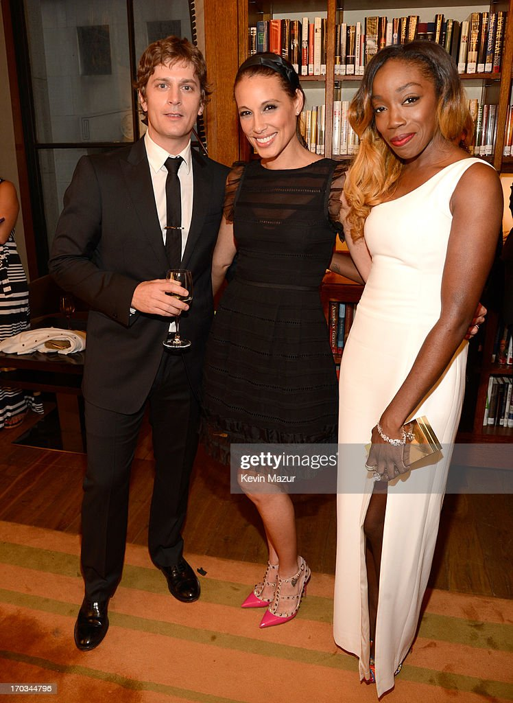 Rob Thomas, Marisol Thomas and Estelle attend the Samsung's Annual Hope for Children Gala at CiprianiÕs in Wall Street on June 11, 2013 in New York City.
