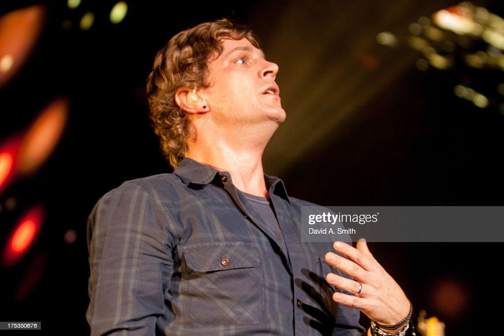 Rob Thomas of Matchbox Twenty performs at the Verizon Wireless Music Center on August 2, 2013 in Birmingham, Alabama.