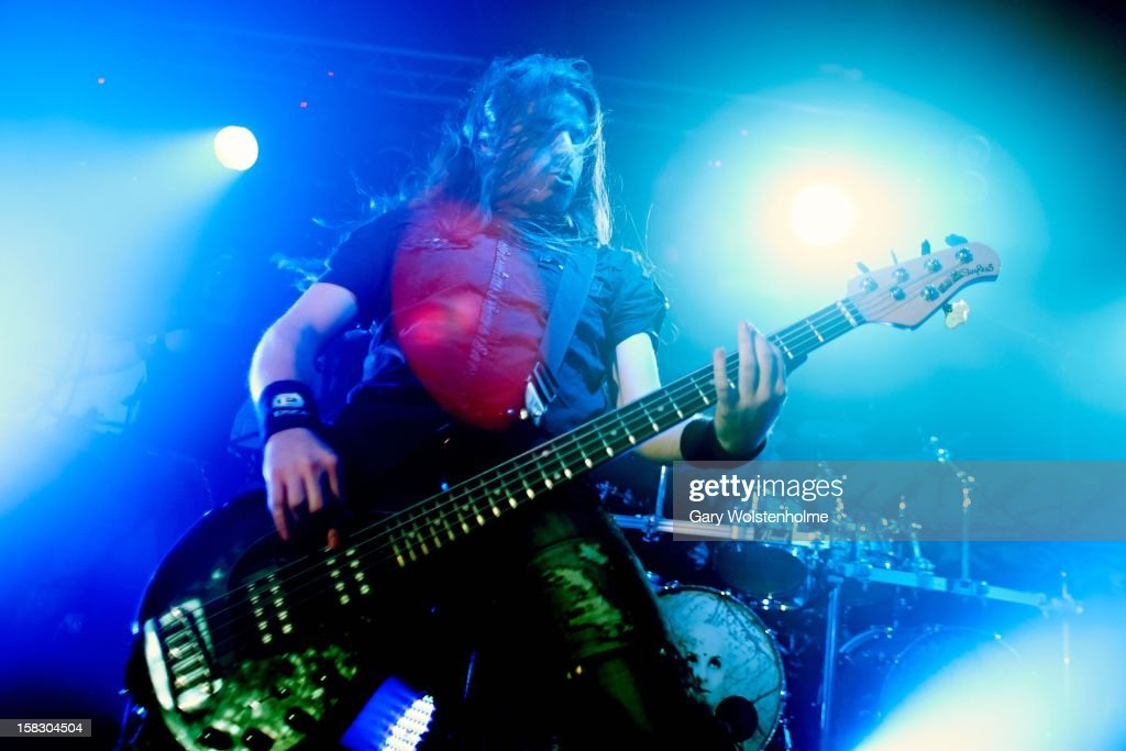 Rob van der Loo of Epica performs at the Corporation on December 12, 2012 in Sheffield, England.