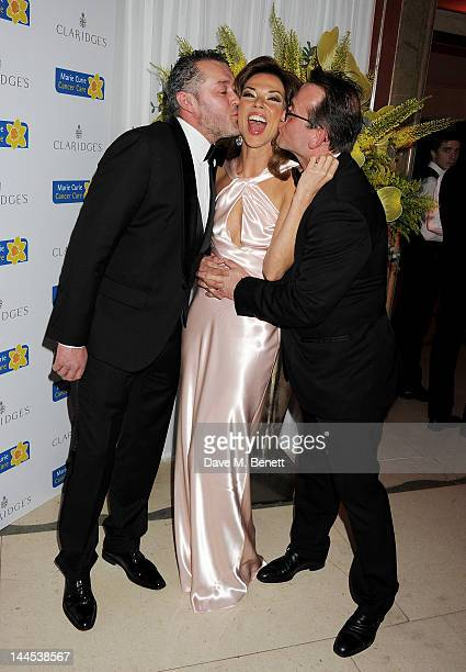 Rob van Helden Heather Kerzner and Sebastian Barbereau attend the Marie Curie Cancer Fundraiser hosted by Heather Kerzner at Claridge's Hotel on May...