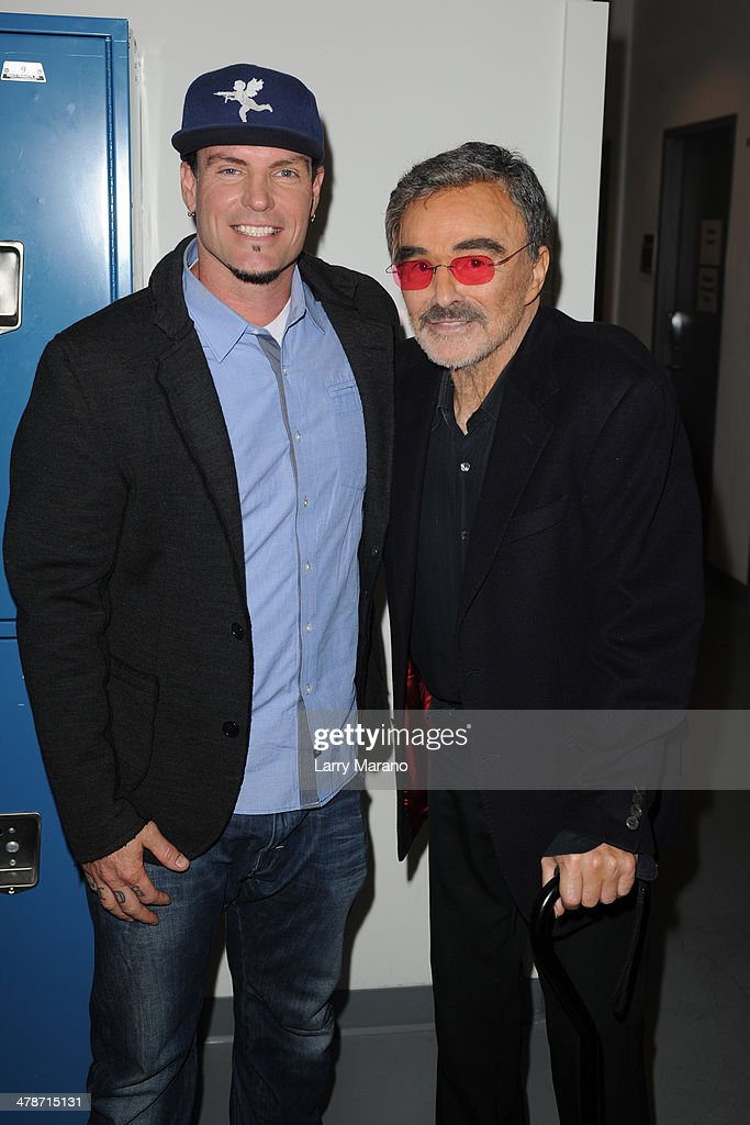 Rob Van Winkle and Burt Reynolds attend the 2014 Student Showcase of Films at Lynn University on March 14, 2014 in Boca Raton, Florida.