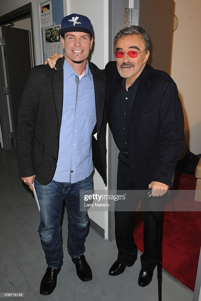 Rob Van Winkle and <a gi-track='captionPersonalityLinkClicked' href=/galleries/search?phrase=Burt+Reynolds&family=editorial&specificpeople=204674 ng-click='$event.stopPropagation()'>Burt Reynolds</a> attend the 2014 Student Showcase of Films at Lynn University on March 14, 2014 in Boca Raton, Florida.