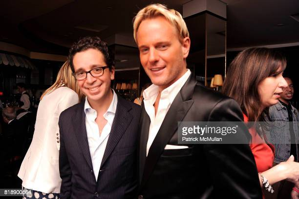 Rob Wiesenthal and Daniel Benedict attend SWAROVSKI THE CINEMA SOCIETY host a dinner for 'SEX AND THE CITY 2' at Monkey Bar on May 25 2010 in New...