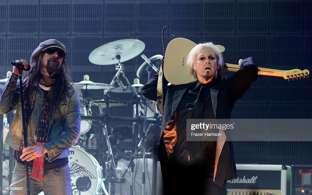 Rob Zombie and Nick 13 perform at the 5th Annual Revolver Golden Gods Award Show at Club Nokia on May 2, 2013 in Los Angeles, California.