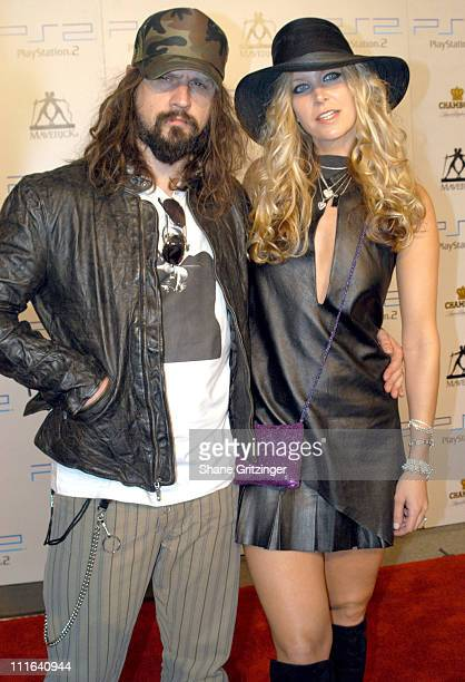 Rob Zombie and Sherry Moon during 2003 MTV Video Music Awards Playstation 2 and Guy Oseary After Party at The Four Seasons Restaurant in New York...