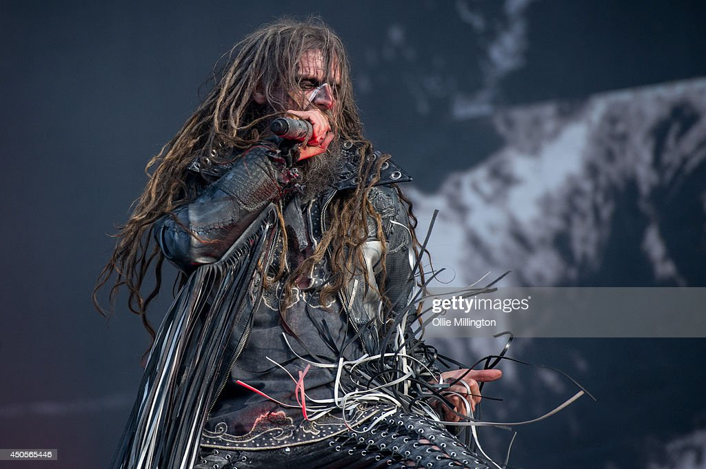 Rob Zombie performs on the main stage at Download Festival at Donnington Park on June 13, 2014 in Donnington, United Kingdom.